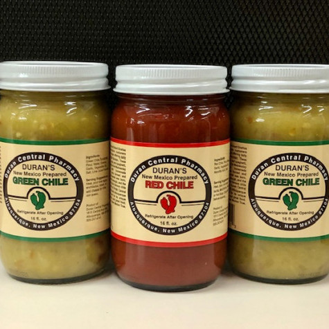 A combination of 3 - 16 oz jars of chile.